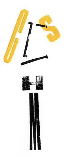 typografische selbstportrait sandra schmitz